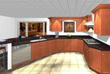 Computer Visualization of a Kitchen Design